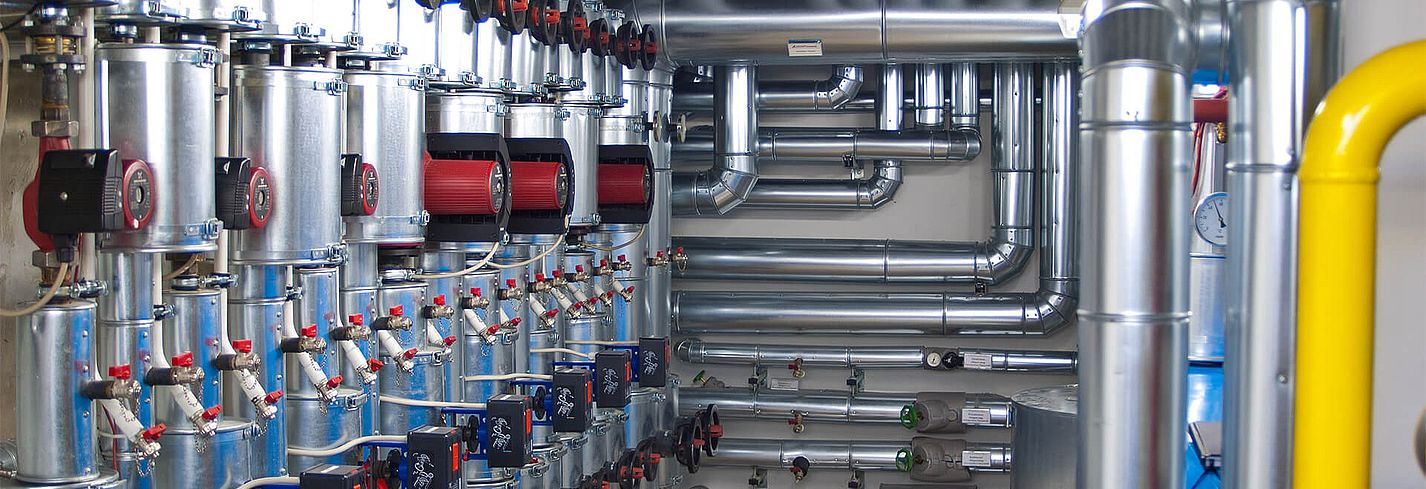 Störk-Tronic, measuring and control technology, building services engineering, heat pump, supply, boiler room.