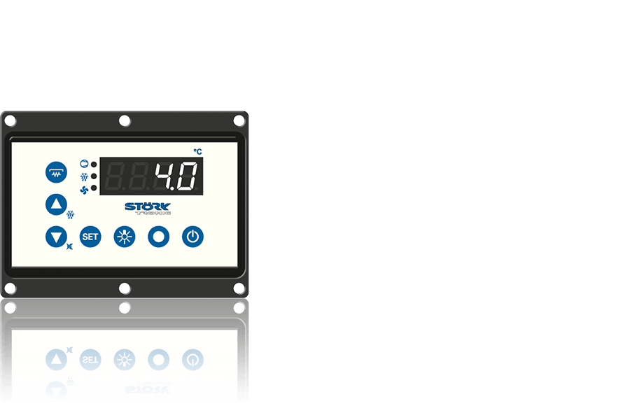 Störk-Tronic, ST 522, real glass, glass, measurement and control technology, building services engineering.