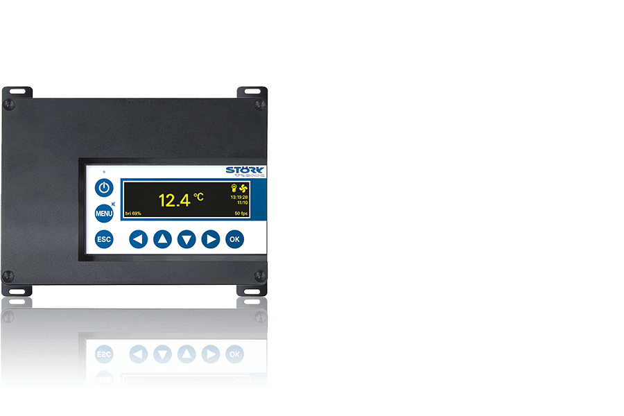 Störk-Tronic ST-Box 100, Splitlösung, kleine Anlagen, OLED Anzeige.