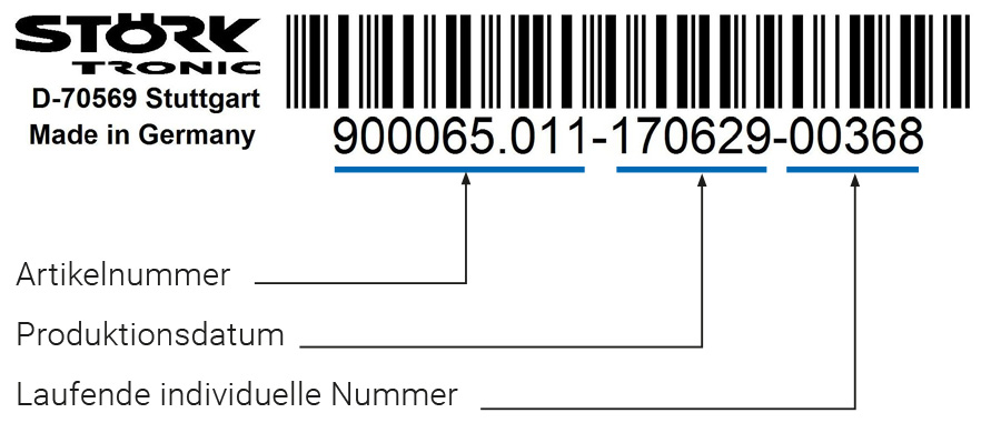 Störk-Tronic Service, häufig gestellte Fragen, frequently asked questions, FAQ, Barcode, Regler Nummer, Artikelnummer, 9-stellig, neunstellig, Nummer, ID, Referenz.