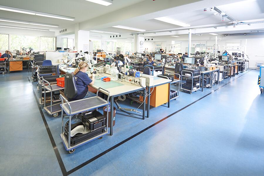 Störk-Tronic Unabhängigkeit, eigenes Firmengebäude, eigene Produktion, Stuttgart, Deutschland.